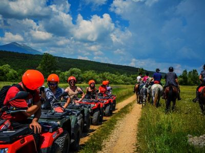Quad rijden & rivierkajakken met BBQ vanuit Split Kroatië