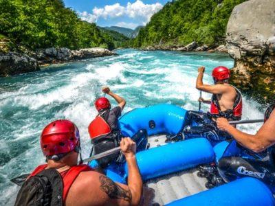 Raften op de Tara Rivier in Montenegro