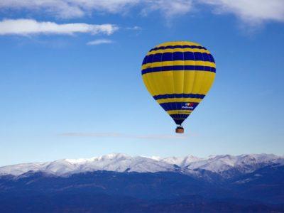 Luchtballonvaart nabij Barcelona