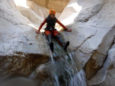 Canyoning door de Foradada kloof nabij Barcelona
