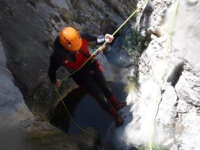 Canyoning door de Sant Ponç kloof nabij Lleida