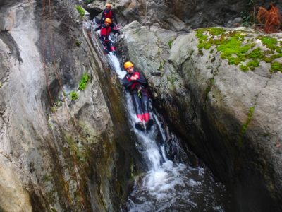 Canyoning in de Thues kloof nabij Perpignan