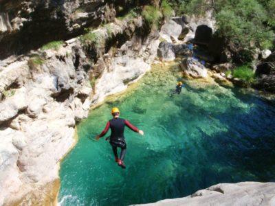 canyoning Toscane Rio Selvano Italië