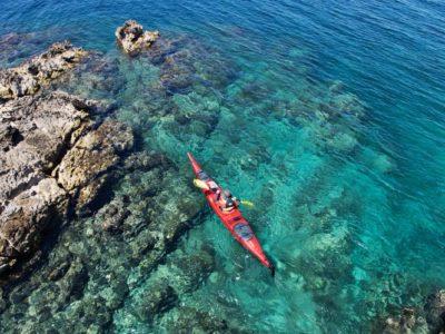 Zeekajakken 3 eilanden in de archipel van Zadar Kroatië