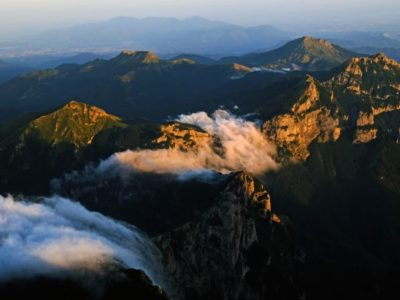 hike met zonsondergang Pieve Fosciana Toscane Italië