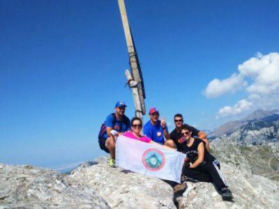 hiken Velebit gebergte vanuit Split Kroatië