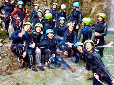 Canyoning Rio Nero Gardameer Italië