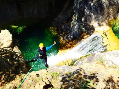 Canyoning nabij Ainsa Spanje