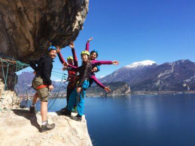 Via Ferrata Gardameer Italië - Lake Terrace Route