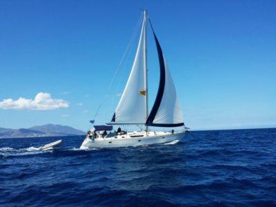 Zeilcruise naar het eiland Rhenia en Delos Mykonos Griekenland